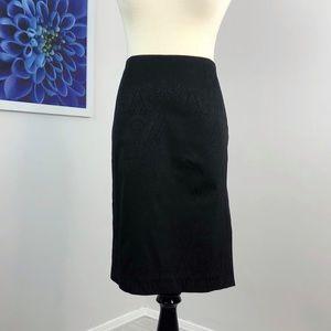 Trina Turk Paisley Damask Embossed Pencil Skirt
